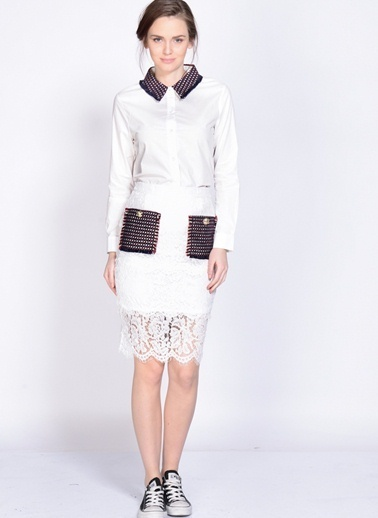 Endless Rose Gömlek Beyaz